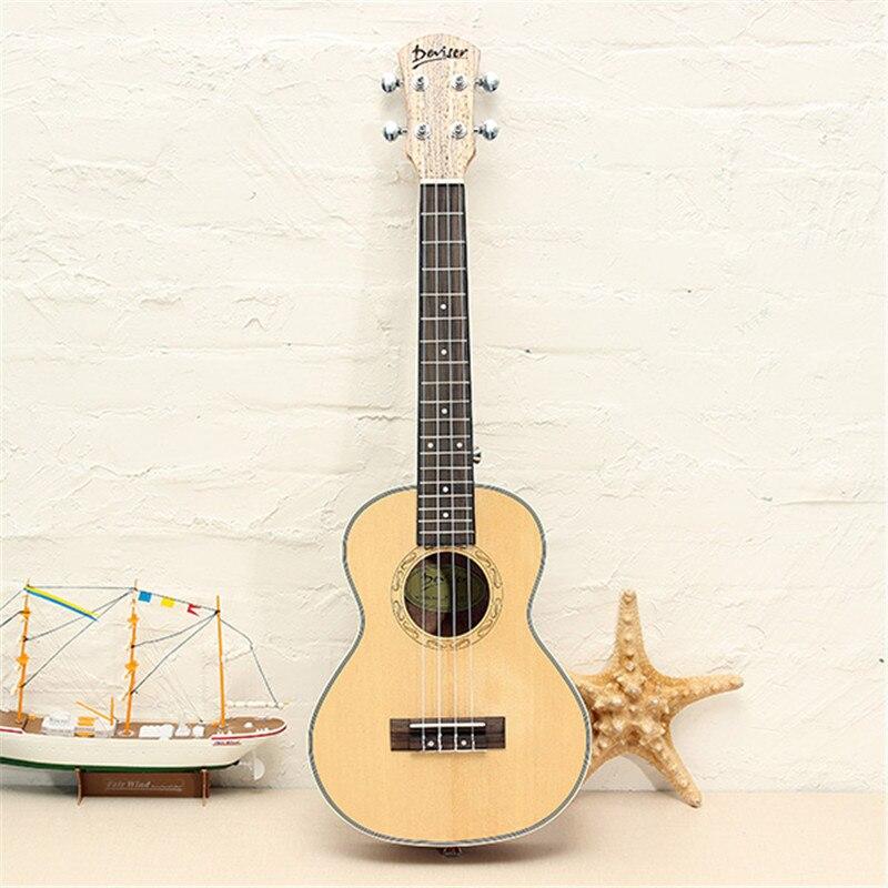 Deviser UK24-60 24 Pulgadas Mate Ukelele 4 cuerdas de Nylon de Guitarra Panel de