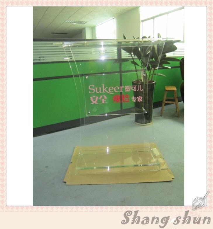 Hot Sell Clear Acrylic Lectern;Clear Church Pulpit;Modern Plexiglass Pulpit