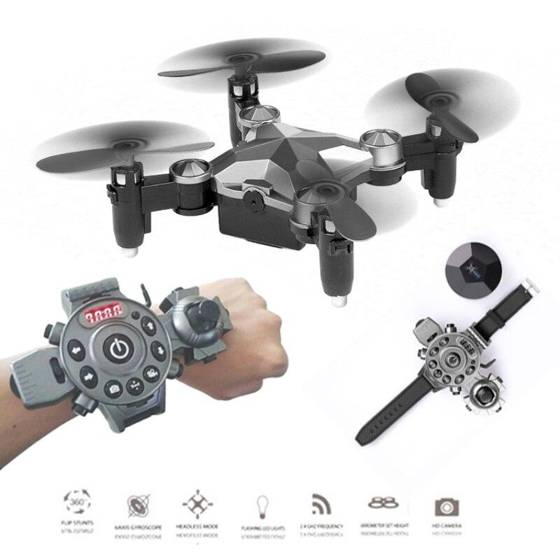 Le plus récent WIFI FPV RC pliant drone DH-800 2.4G mis montre contrôleur mini Selfie drone poche télécommande rc quadrirotor