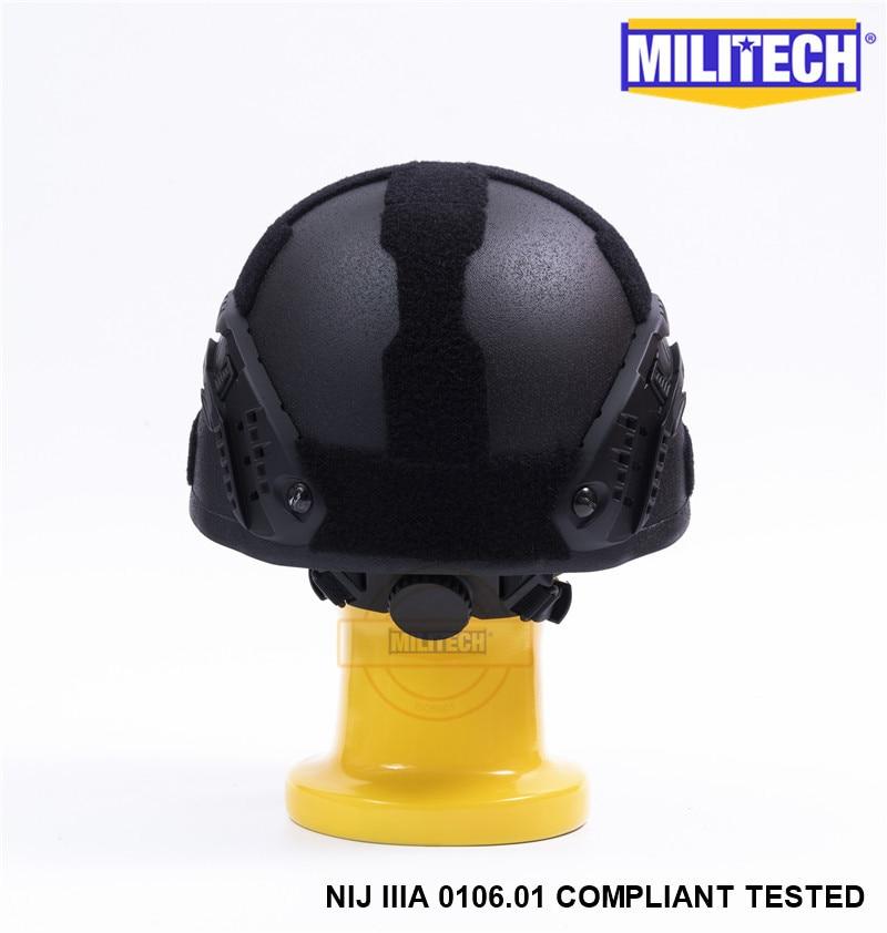 MILITECH Svart BK MICH NIJ Level IIIA 3A Taktisk Twaron Bulletproof - Säkerhet och skydd - Foto 5