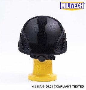 Image 5 - MILITECH Đen BK Mịch NIJ Cấp IIIA 3A Chiến Thuật Twaron Chống Đạn Mũ Bảo Hiểm ACH Vòng Cung OCC Mặt Lót Aramid Đạn Đạo Mũ Bảo Hiểm cói