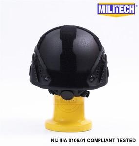 Image 5 - Militech Black Bk Mich Nij Level Iiia 3A Tactische Twaron Kogelvrije Helm Ach Arc Occ Dial Liner Aramid Ballistic Helm seal