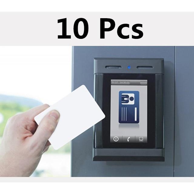 FGHGF 10 cái/lốc thẻ rfid 125 khz TK4100 thẻ thông minh EM4100 ID thẻ pvc với UID số series cho truy cập hệ thống điều khiển