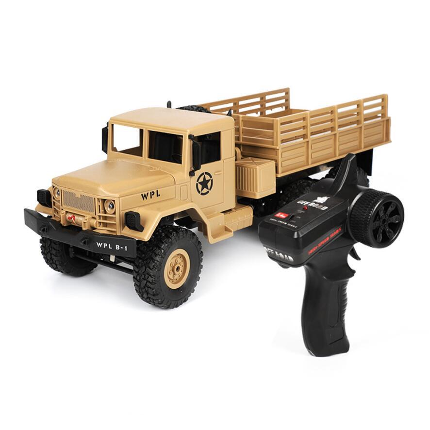 WPL B16 B-16 6WD Off-Road RC Military Truck WPL Upgrade KIT DIY 1:16 RC Car Buggy R/C WPL Monster Truck 6 Wheel Assemble Crawler 1 16 wpl 6wd crawler military trunk b 16 crawler remote control car model toy