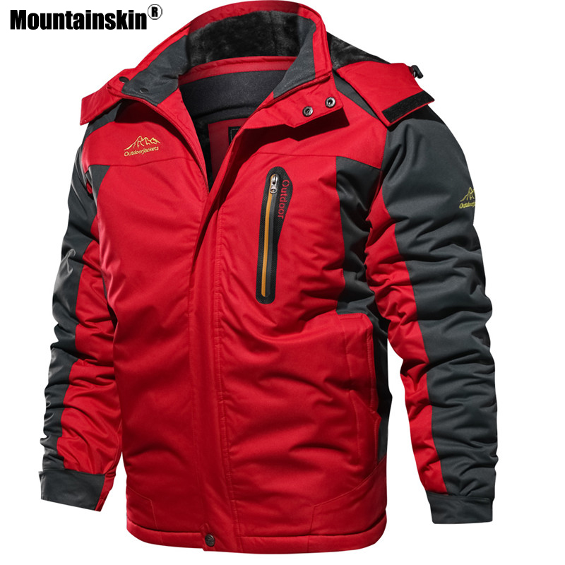 Image 3 - Mountainskin New Winter Men's Parkas Thick Fleece Warm Coat Men Jackets Hooded Coats Mens Brand Clothing Plus Size 7XL 8XL SA603-in Jackets from Men's Clothing