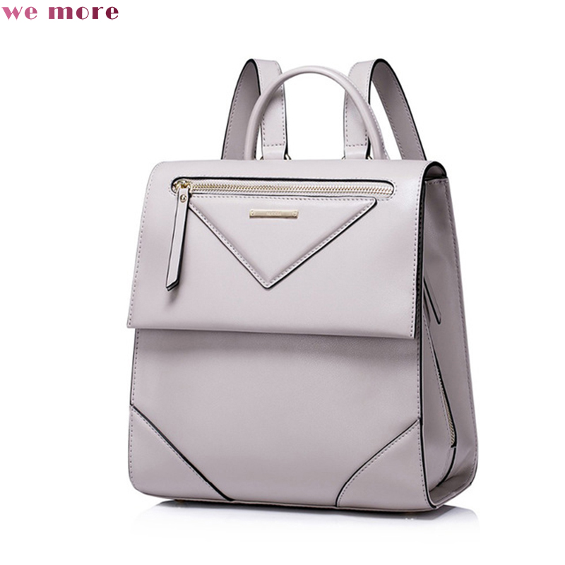 we more Women fashion Split Leather Backpack Female Leisure Daily Student School Double Shoulder Bags Ladies Travel Rucksack