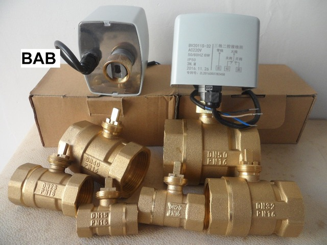 "AC220V DN15(G 1/2"") to DN 50(G 2"")  2 way 3 wires brass motorized ball valve/ electric actuator motor operated brass ball valve"