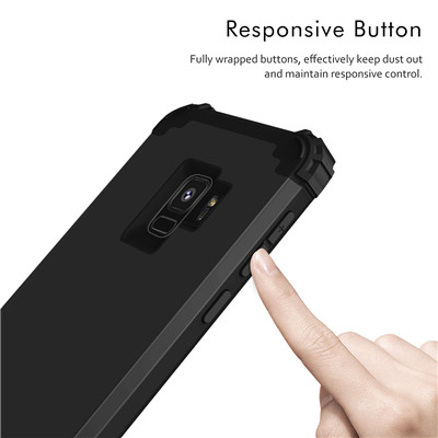 Heavy Duty Hybrid Case For Samsung Galaxy S9 S9Plus Shockproof Armor Rugged Case Cover Hard PC + Soft Rubber Silicone Phone Case (8)