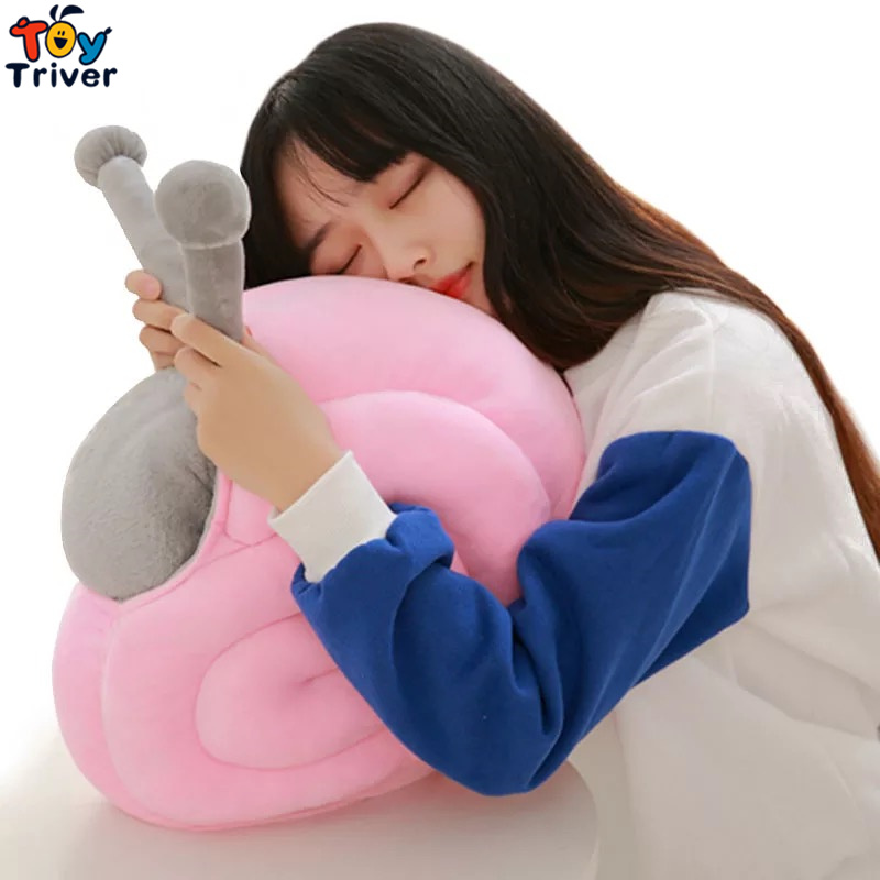 Plush Snail Portable Blanket Stuffed <font><b>Toy</b></font> Doll Baby Shower Car Air Condition Travel Rug Office Nap Carpet Birthday Gift Triver