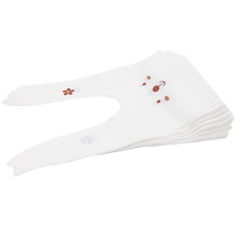 50 pçs bonito dos desenhos animados coelho orelha cookie saco festa caixa de embalagem pão claro biscoitos sacos doces presentes de aniversário do casamento sacos