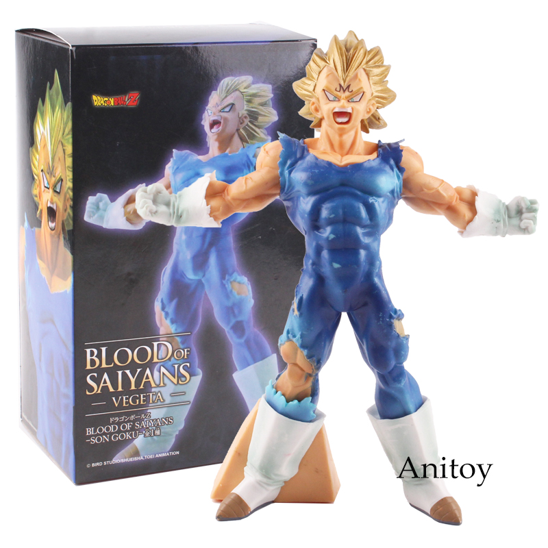 Dragon Ball Z Figure Blood of Saiyans Vegeta PVC Action Figure Collectible Model Toy 18cm KT4760 new hot christmas gift 21inch 52cm bearbrick be rbrick fashion toy pvc action figure collectible model toy decoration