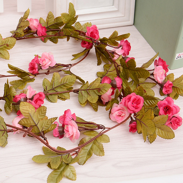 23m Silk Pink Rose Artificial Flower Wall Romantic Wedding Arch