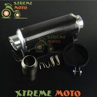 Universal Carbon Fiber Short Exhaust Mufflers For Any Other Bike With Pipe Slip Diameter 38-51mm ATV Street Dirt Bike Motorcycle