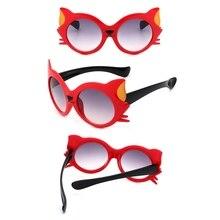 2242a257b 2018 جديد أزياء كيد شمس الفتيان الفتيات طفل جميل الكرتون القط العين النظارات  التدرج عدسة نظارات