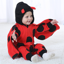 96d115db27ad 2018 New Boys Girls Rompers Animal Design Baby Romper Flannel Jumpsuit For 0-24  Months