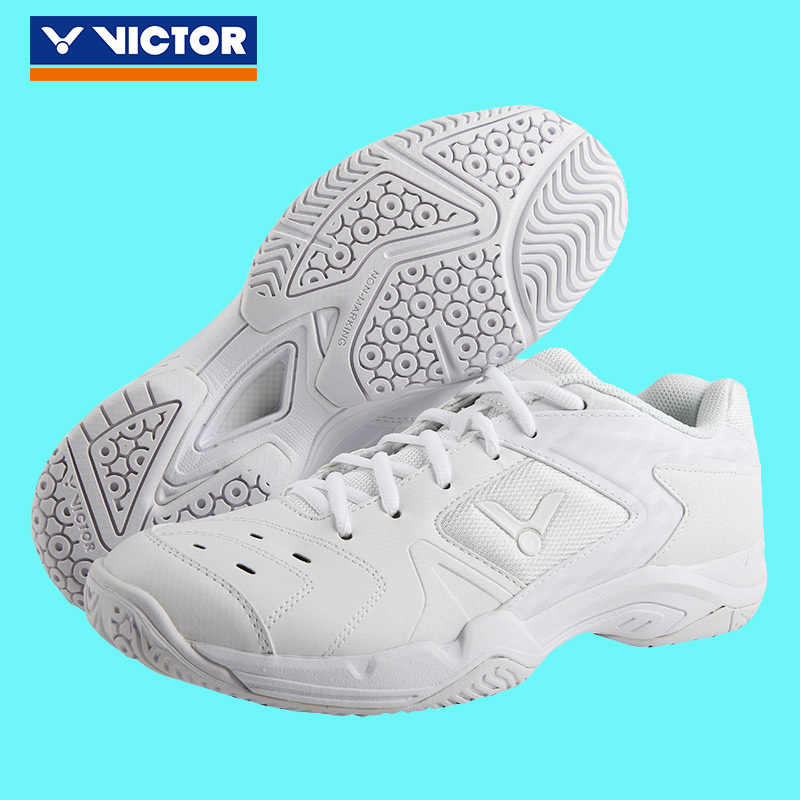 Original Victor White Badminton Shoes Breathable White Anti Slipper Stable Sport Sneakers for men women P9200TD