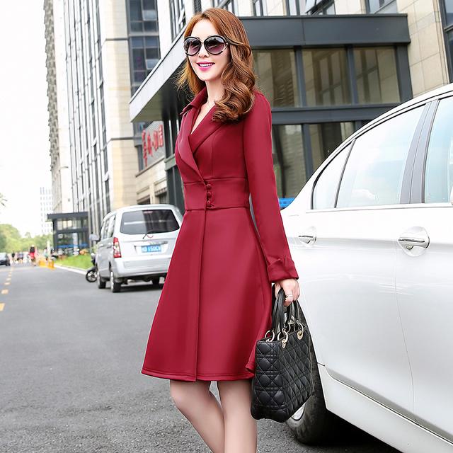 2015 outono mulheres casaco jaqueta moda sólidos magro único Breasted saia estilo de venda quente casacos de inverno mulheres