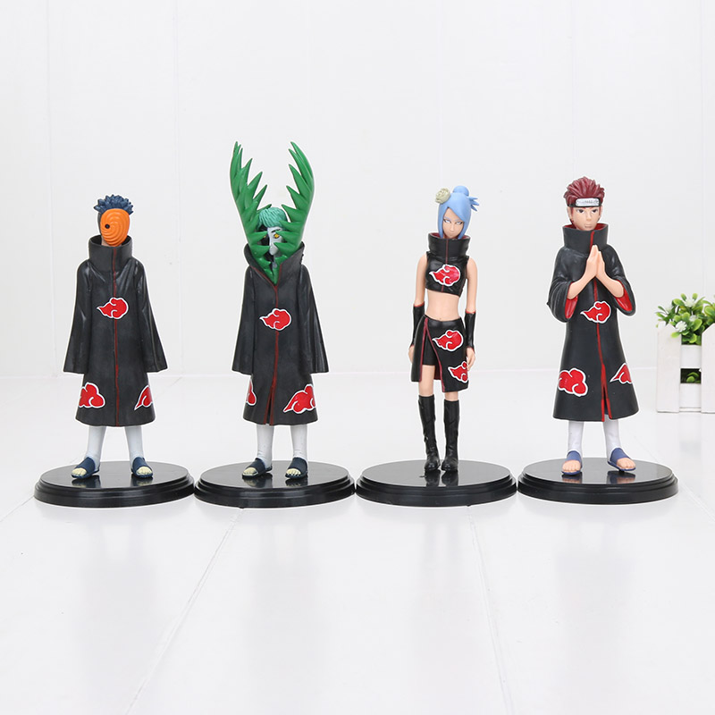 Action-Figures Naruto Pain Pvc Doll Obito Gifts Konan Zetsu Uchiha 2pcs/Set 15-18cm