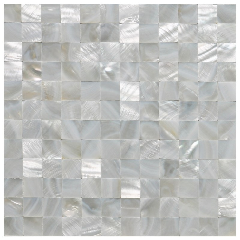 White Square Seamless Pearl Shell Mesh Backing 10 Panels 9.6 Sq.Ft