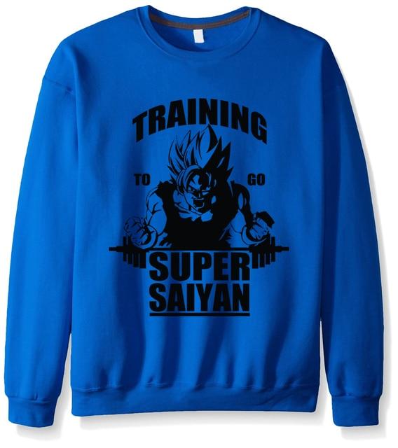 Hombres negro para ir Super Saiyan sudadera marca ropa moda nuevo estilo de  otoño fleece con e23fe66c570