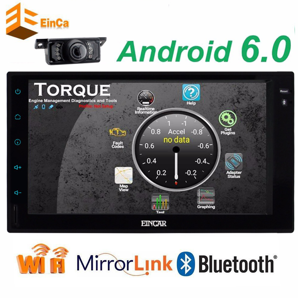 Car autoradio double Din Android 6.0 GPS radio recorder 2 din audio player Quad Core headunit browser Free gps map radio+camera image