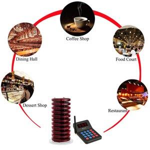 Image 5 - RETEKESS TD104 ресторанный пейджер 433,92 МГц Беспроводная система вызова 999 каналов обслуживание клиентов оборудование Coaster пейджер