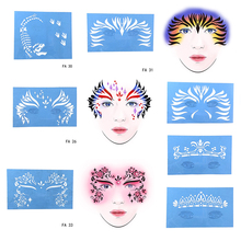 OPHIR Reusable Face Paint Stencil Airbrush Glitter Tattoo Body Painting Facial Makeup Template 7Pcs/set FA26303132333536