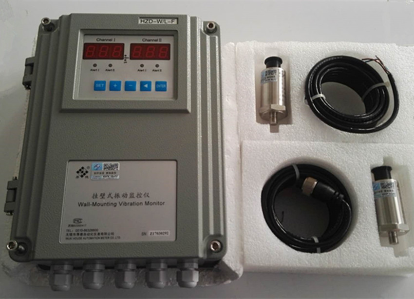 HZD-W/L-F Wall-mounted Vibration Monitoring Instrument With HD-ST-6/ST-3 Vibration Speed Sensor