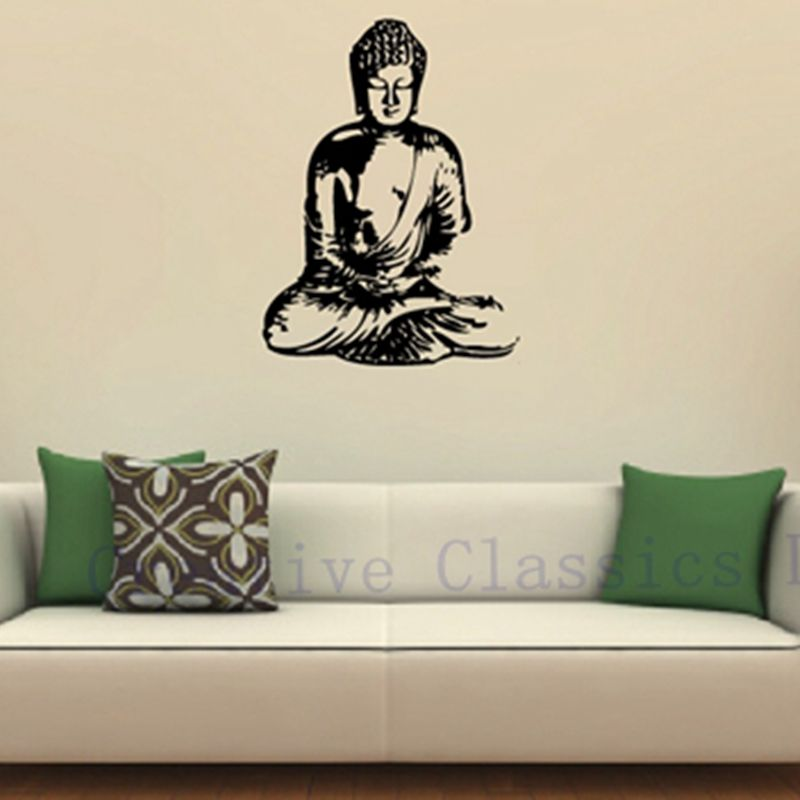 Merveilleux Free Shipping Vinyl Wall Sticker Buddha , Wall Decal Buddha Silhouette  India Asian Spiritual Awakened One Home Decor In Wall Stickers From Home U0026  Garden On ...