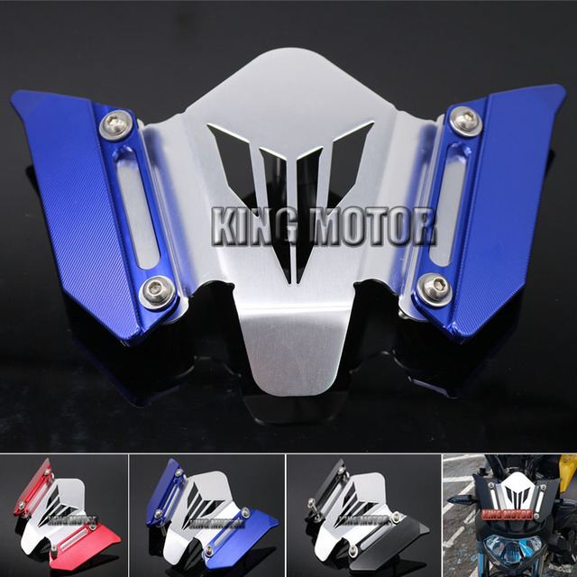 For YAMAHA MT07 FZ07 MT-07 FZ-07 2014-2016 Motorcycle Accessories CNC Windscreen Windshield Mounting Bracket Blue