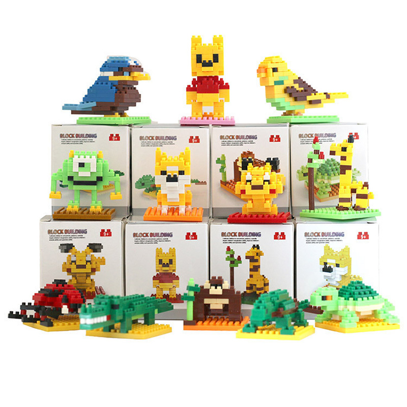 SLPF Building Blocks Assembly Toys Building Brick Animal Robot Model Kit Children Educational DIY  Boys Girls Gifts Legoings F07