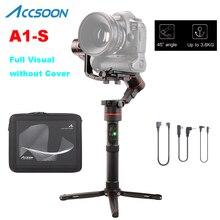 Accsoon A1-S 3 оси ручной Gimbal стабилизатор 3,6 кг полезной нагрузки полный визуальный без крышки Для беззеркальных/DSLR PK zhiyun кран 2 V2