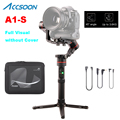 Accsoon A1-S 3-axis handheld cardan estabilizador 3.6 kg carga útil visual completo sem cobertura para mirrorless/dslr pk zhiyun guindaste 2 v2