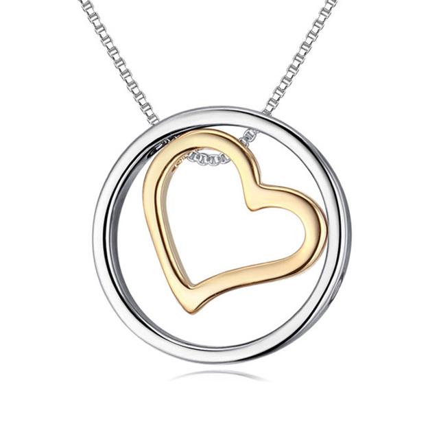 ebca4b95a1 New Heart In A Circle Pendants & Necklaces Couples Jewelry Accessories  Birthday Gifts For Lovers Christmas Necklaces For Wife