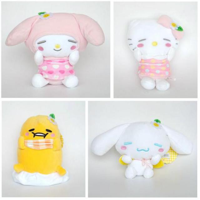 Anime Chrysanthemum My Melody Pudding Cinnamoroll Dog Hello Kitty Egg Yolk  penguin Plush Toy Soft Stuffed 80ff8a9aaca2f