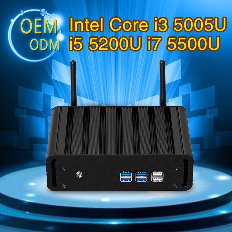 Mini PC Core i5 5200U i7 5500U i3 5005U Dual Core 8G RAM 128G SSD With