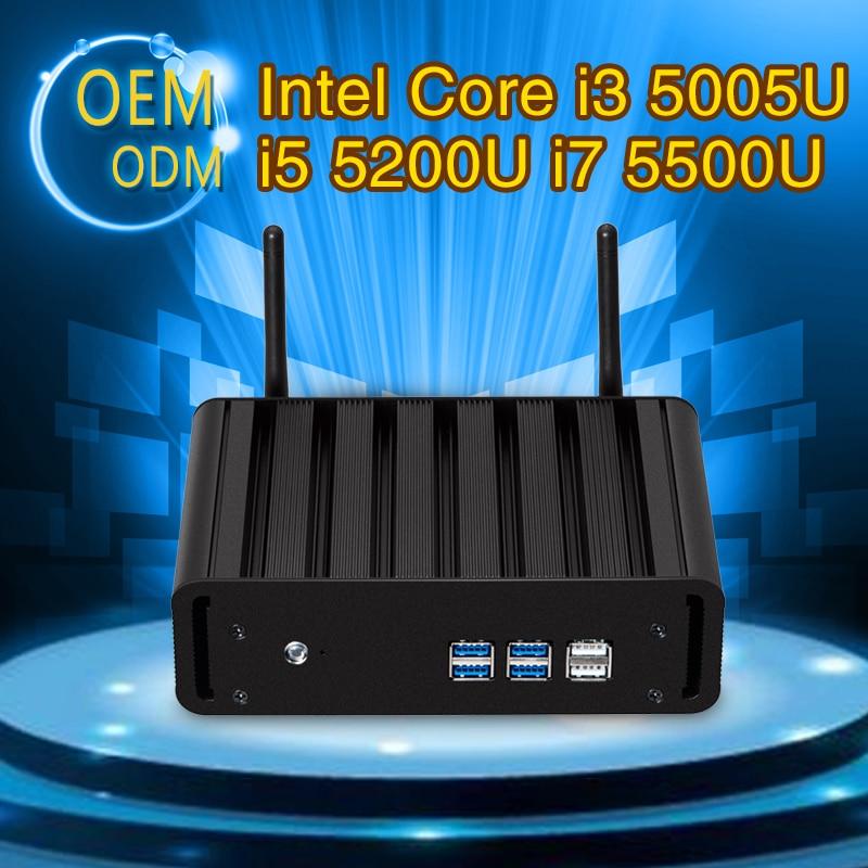 Mini pc Core I5 5200U I7 550U I3 5005U Dual core 8G RAM 128G SSD With WIFI Desktop computer 6 USB HDMI VGA Windows 7/8/10