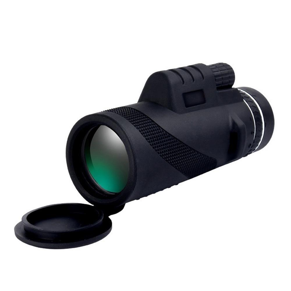 HD телескоп просмотр очки освещение телефон камера ночного видения очки прочный Монокуляр телескоп черный 40X