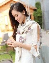 Мода шелковый шарф женщин розовый длинный мягкий оберните Леди Шаль шифон шарфы новый дизайн печатной платки echarpes роковой