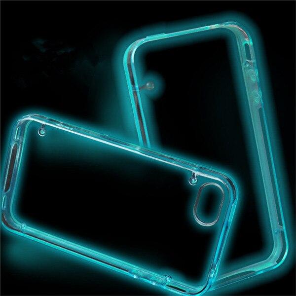 Para iphone 6s case luminoso brillante claro de shell del teléfono accesorios cu