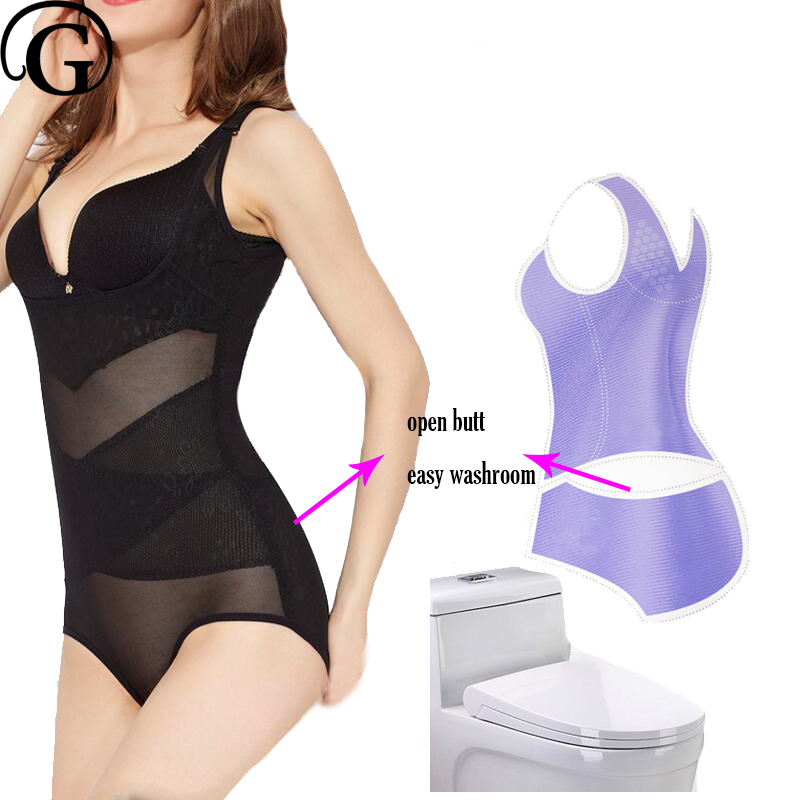 5bda2b3ee3 PRAYGER Open Butt 5xl Women Plus Size Full Body Shaper Waist ...