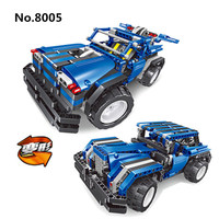 8005 445pcs Building Block Bricks 2in1 Technic Transform Car Assemble RC Car Truck Racing Cars Lightning Flash Set Toys For Boys