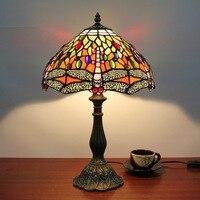 Настольная лампа стрекоза настольное освещение домашнее декоративное освещение стеклянная лампа для гостиной прикроватное освещение