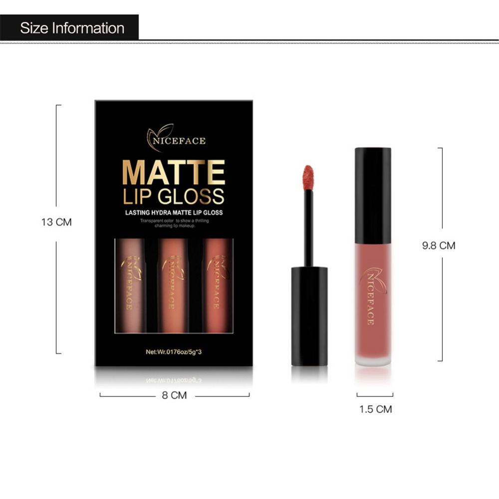 Gloss 3 pçs/set sexy cores brilho Feature5 : Lips Cosmetic Makeup