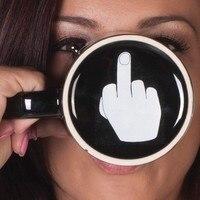 จัดส่งฟรีมีวันที่ดีกาแฟ/ชา/แก้วนมนิ้วกลางตลกถ้วยสำหรับของขวัญคริสมาสต์/วันเกิดของขวัญ
