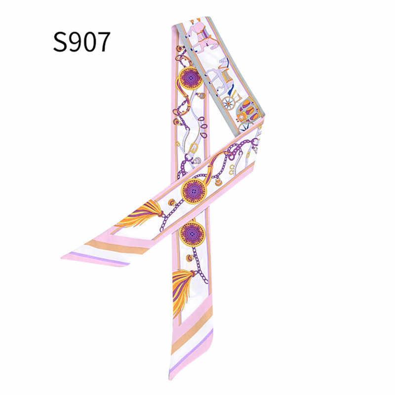 Бренд лошадь Рюкзак с фотоизображением ремень шарф 2018 женский шёлковый шарф, модный головной повязка-баф длинные шарфы сумка аксессуары лента