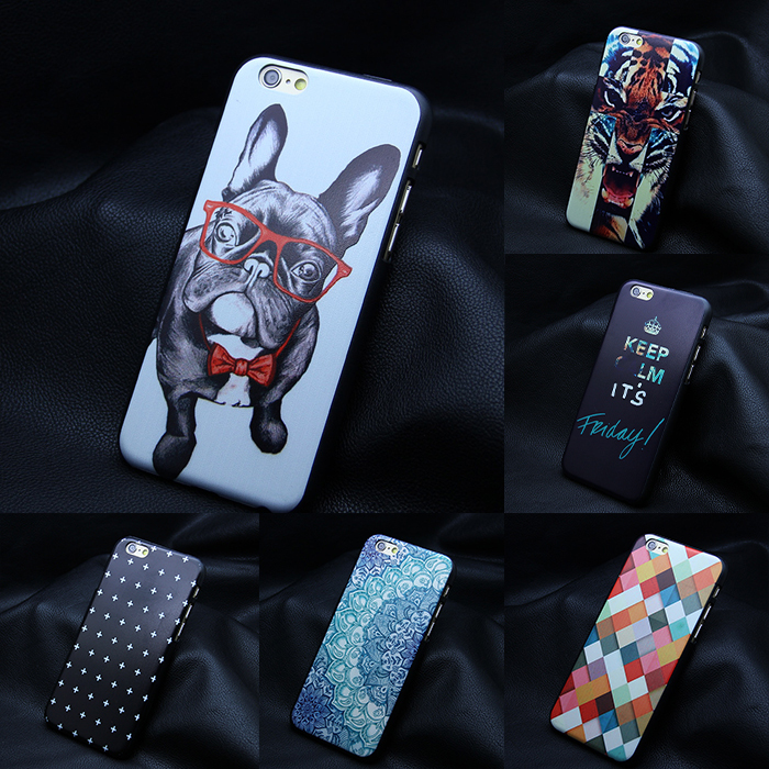 Hot Sale New design personality hard black case for iphone 4 4s 5 5s se 6 6s plus printed back cover for iphone art print