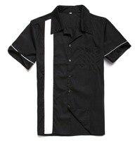 Vintage Chemises ROYAUME-UNI Printemps et D'été Coton À Manches Courtes Hommes Casual Chemises Classique Noir Couleur Plus La Taille En Ligne Magasin Livraison gratuite