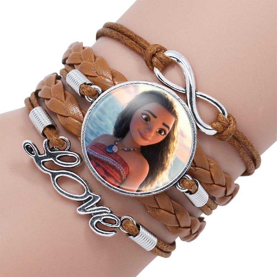 Детский Браслет Принцессы Диснея с героями мультфильма «Холодное сердце», Эльза, прекрасный подарок для девочек, аксессуары для одежды, детский браслет, украшения для макияжа - Цвет: 6