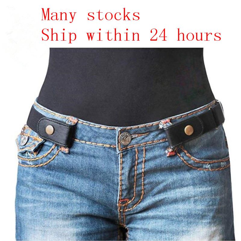 Women Buckle Buckle-Free Elastic   Belt   Free No Buckle Pants Stretch   Belt   Plus   Belts   for Jeans Dresses